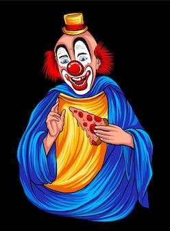 Vettore di illustrazione felice del pagliaccio di dio