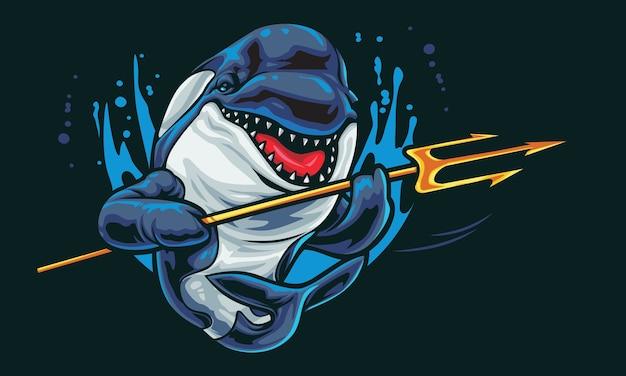 God orca esport logo illustrazione