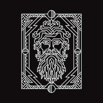 Illustrazione della geometria del tuono di dio