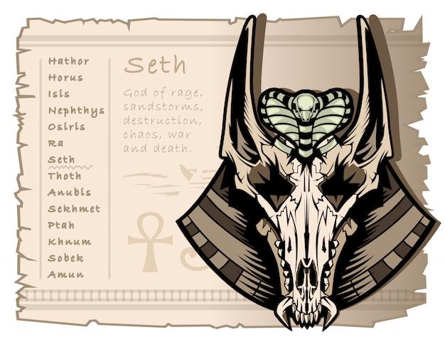 Dio della guerra, della tempesta e dell'anarchia seth nell'antico egitto