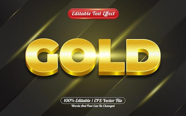 Stile del modello di effetto di testo modificabile 3d oro