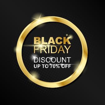 Oro nero venerdì design moderno modello di banner colorato