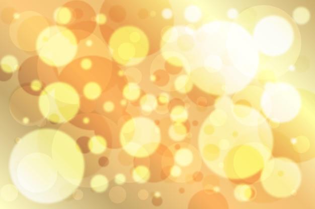 Sfondo bokeh sfocato oro Vettore Premium