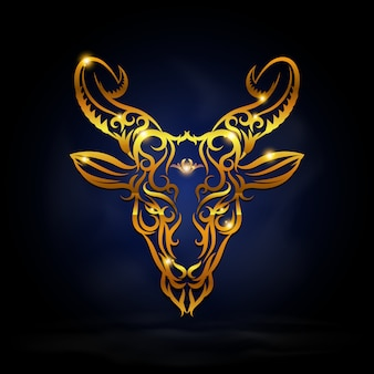Simbolo capricorno oro