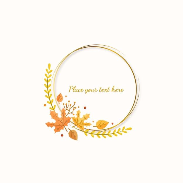 Bordo autunnale con anello color oro
