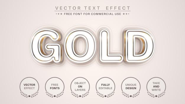 Stile del carattere effetto testo modifica oro text