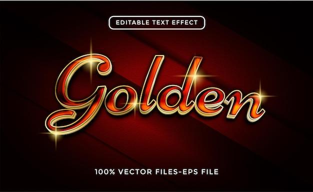 Vettore premium effetto testo modificabile in oro