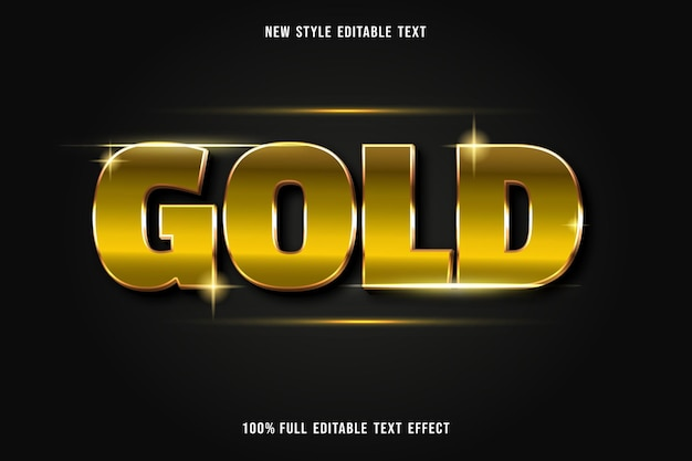Testo modificabile in oro stile effetto lusso