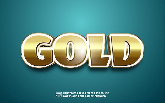 Oro: stile di effetto testo modificabile