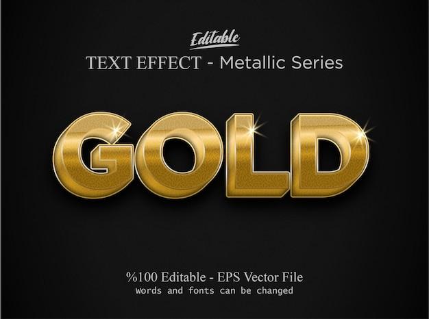 Vettore di effetto di testo modificabile oro
