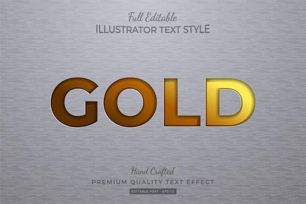 Oro modificabile effetto stile testo premium