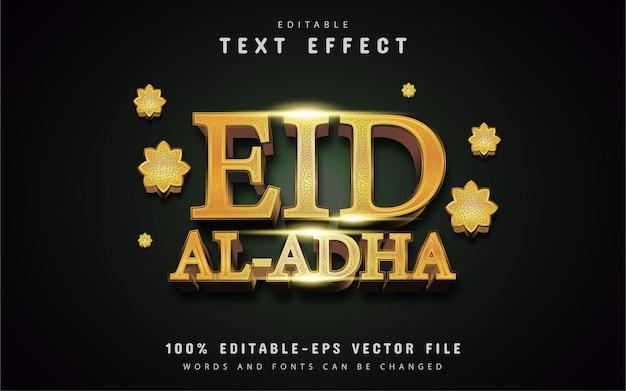 Effetto testo oro eid al adha