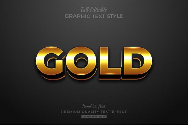 Effetto stile testo modificabile elegante oro