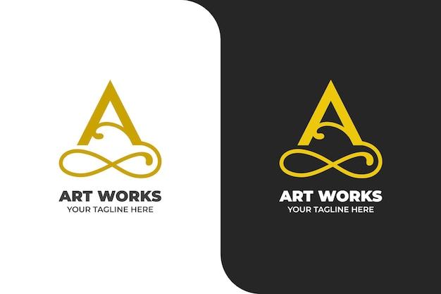 Logo di ornamento lettera a elegante oro