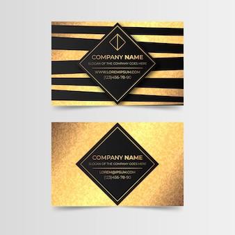 Modello di biglietto da visita in lamina d'oro