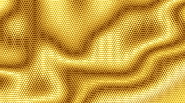 Priorità bassa di struttura della lamina d'oro, illustrazione astratta. rgb. colori globali