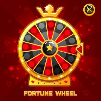 Illustrazione della ruota della fortuna dell'oro