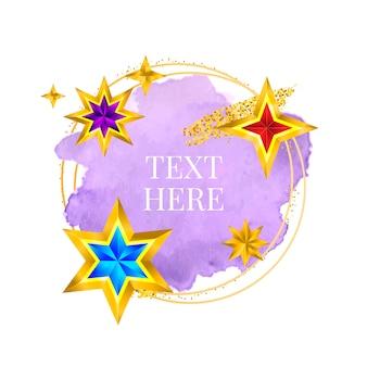 Vernice cornice dorata tratto di pennello vettoriale dipinto a mano. design perfetto per titolo, logo e banner di vendita. acquerello.