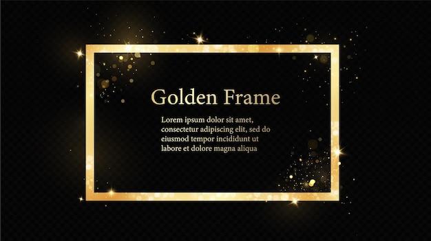 Cornici d'oro per il testo.