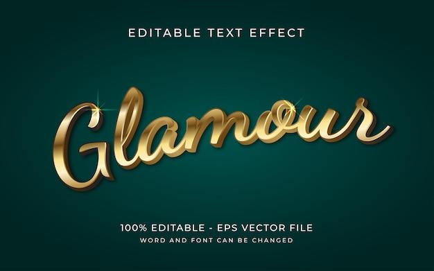 Effetto testo modificabile in stile effetto testo 3d glamour dorato