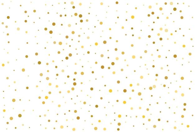 Fondo classico dei coriandoli del cerchio di scintillio dell'oro