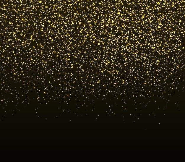 Trama glitter oro. particelle d'oro. sfondo glitter scintilla.