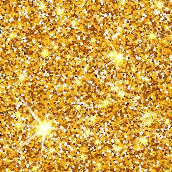 Scintillio dell'oro trama vettoriale sfondo dorato scintillante particelle ambra sfondo luxory