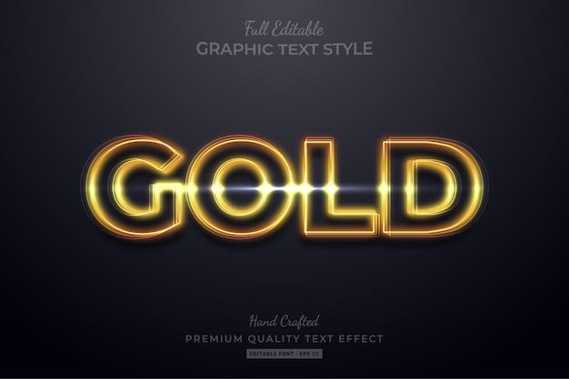 Effetto stile testo modificabile bagliore d'oro