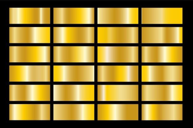 Sfumatura d'oro set sfondo icona vettore texture illustrazione metallica per cornice, nastro, banner, moneta ed etichetta. reticolo senza giunte di disegno dorato astratto realistico. elegante modello di luce e splendore