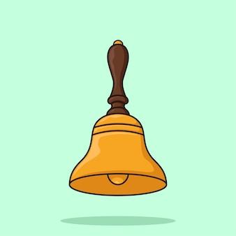 Vettore dell'illustrazione del fumetto del campanello d'oro