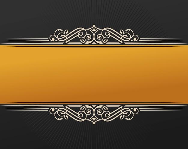 Cornice d'epoca invito oro