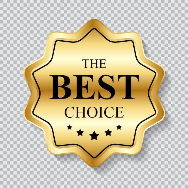 Etichetta d'oro il modello di scelta migliore