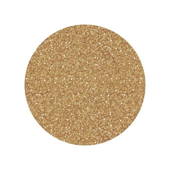 Cerchio rotondo etichetta oro con texture glitterata dorata. icona isolata di vettore per lo shopping o il design di vendita.