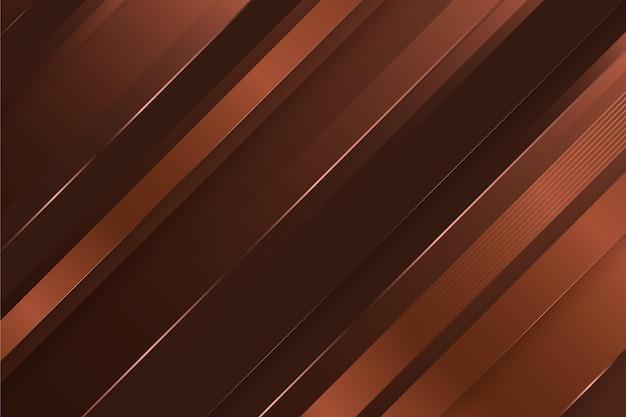 Sfondo di lusso oro con linee marroni