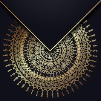 Mandala d'oro sullo sfondo