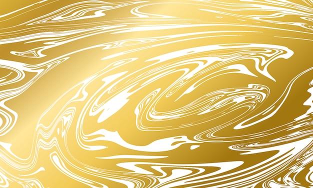 Struttura in marmo oro su sfondo bianco