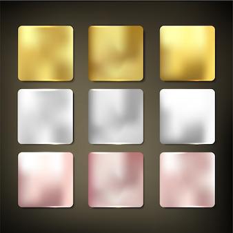 Trama materiale oro imposta stile