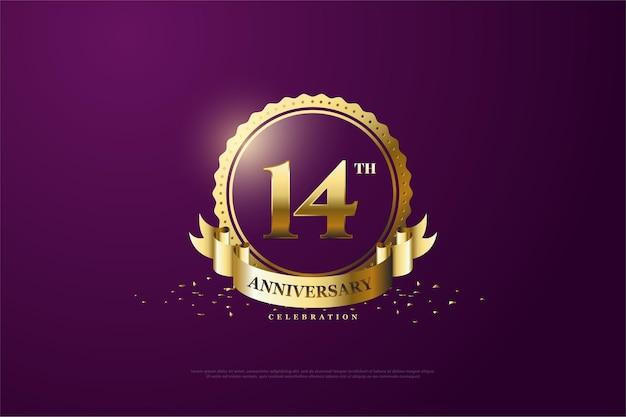 Medaglia d'oro per il 14 ° anniversario
