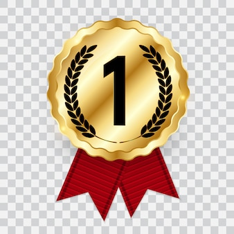 Medaglia d'oro. icona primo posto.