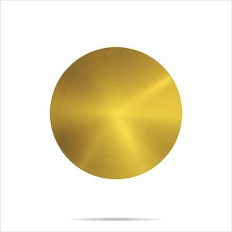 Modello di medaglia d'oro isolato su sfondo bianco metallo rotondo struttura ricompensa trofeo mockup