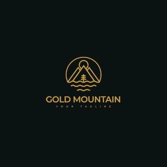 Logo della montagna d'oro