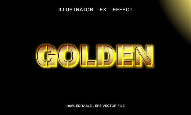 Effetto stile testo neon oro