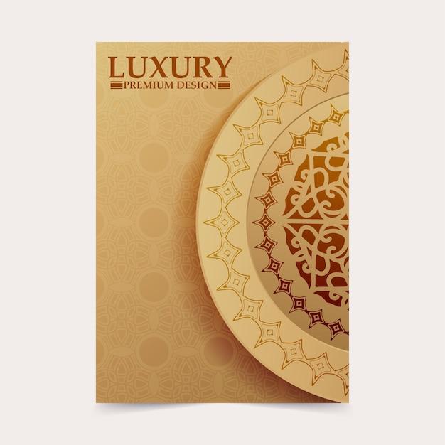 Modello di copertina con motivo ornamentale in oro
