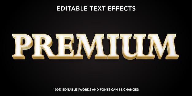Effetto testo modificabile in stile testo premium oro