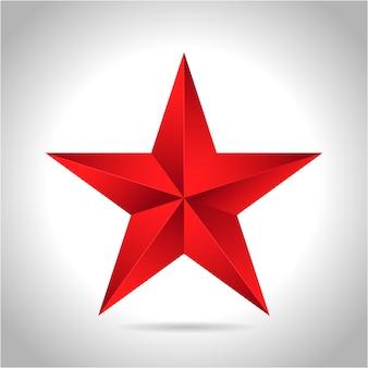 Stella rossa d'oro