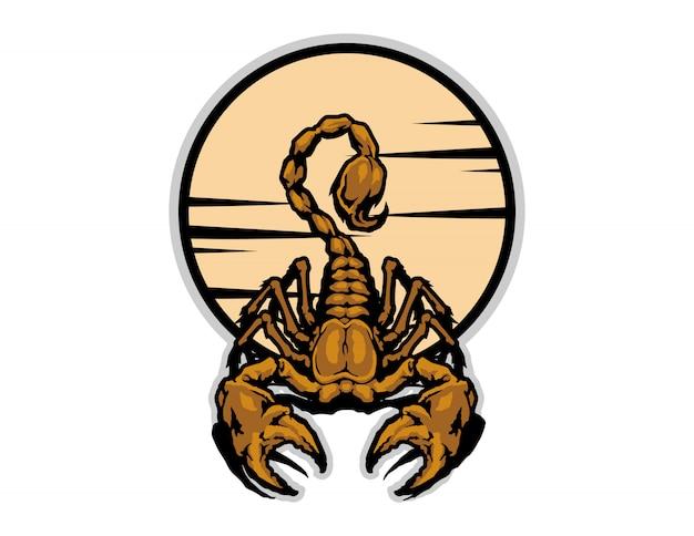 Vettore di cartone animato di scorpione d'oro