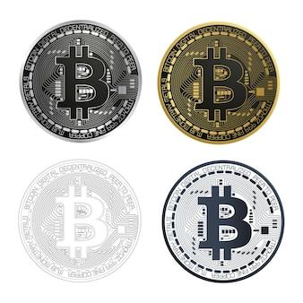 Set bitcoin oro e argento