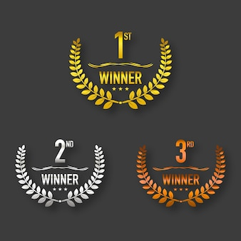 Premio vincitore oro, argento e marrone