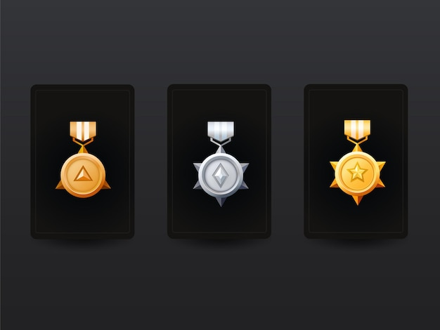 Medaglia d'oro e d'argento vincente