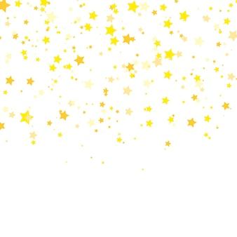 Stella d'oro . modello di coriandoli brillare. vettore.